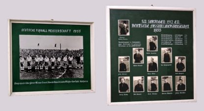 Fußball-Traditionsfotos in Vereinsgaststätte