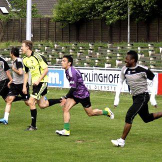 Amateur-Fußballer vom SV Sodingen beim Training