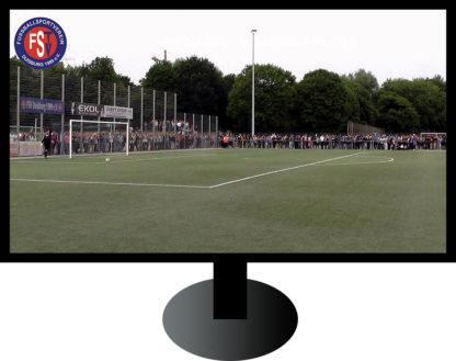 Fernseher mit Fußballspiel vom FSV Duisburg