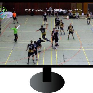 Fernseher mit Handball-Torwurf