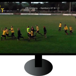 Fernseher mit Torjubel beim Amateur-Fußball