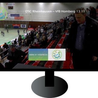 Fernseher mit einer Tribüne in Sporthalle