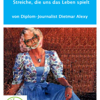 Cover mit lustigem Bild: Mann sieht aus wie eine Frau im Dirndl...